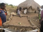 What?? A pool table made of mud, dung and bamboo. Genius!