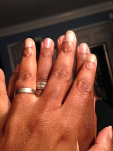 We got titanium wedding rings with etchings similar to the One Ring