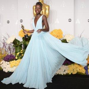 Lupita-Nyongo-Light-Blue-Prada-Dress-Oscars-2014