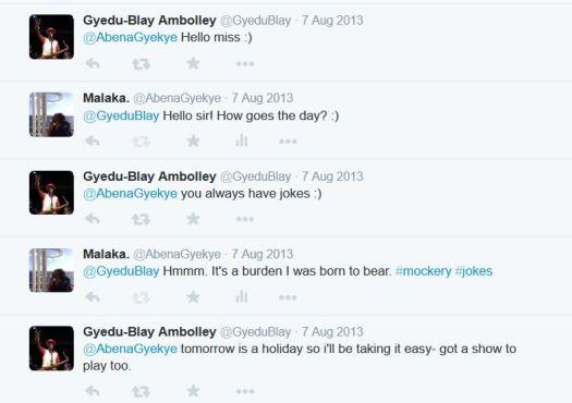 Ambolley thinks im funny