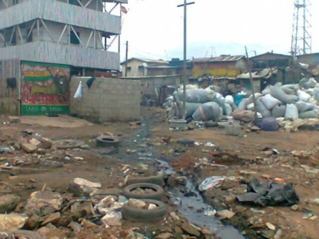 A lot of Accra and the surrounding areas look (and smell) just like this.