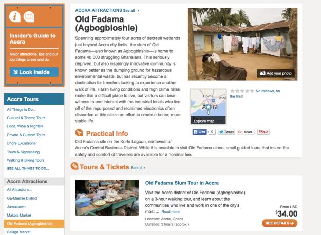 Ad selling tours to the slum