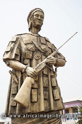 Yaa Asantewaa Statue, Ejisu, Ghana