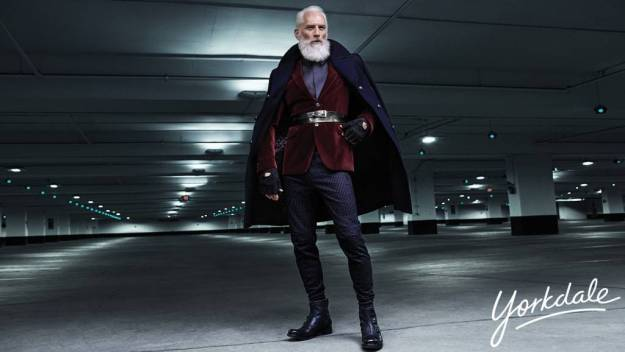 Look at them boots. Look at that cape. Santa is a freak.